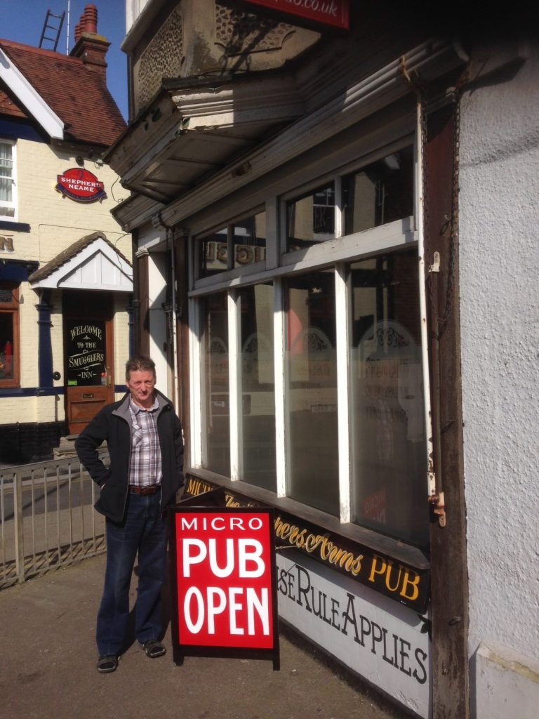 Martyn Hillier outside the Butcher's Arms
