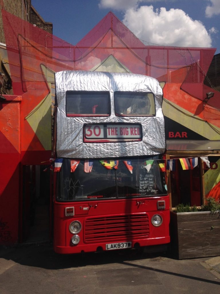 Big Red Pizza Bus