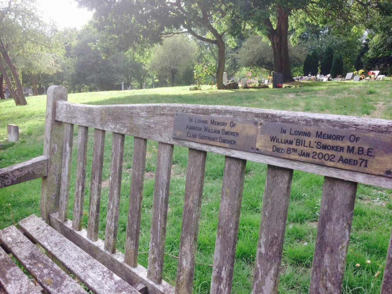 Willam Smoker's Bench at West Norwood Cemetery